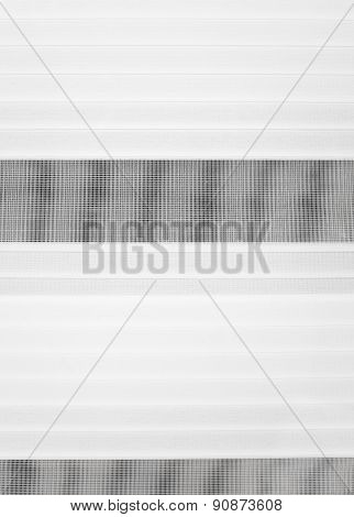 Closed Gray Jalousie Background Hanging In A Window