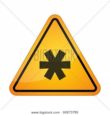 Danger Signal Icon With An Asterisk