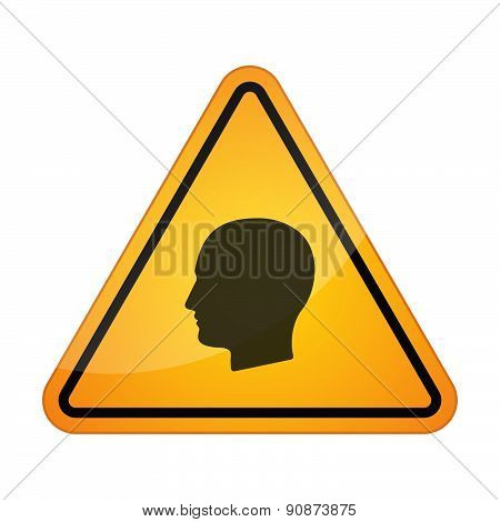 Danger Signal Icon With A Male Head