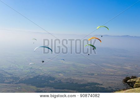 Paragliding as an extreme adrenaline sport