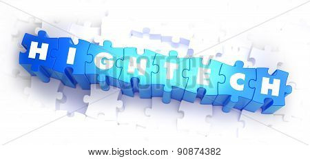 HighTech - Text on Blue Puzzles.