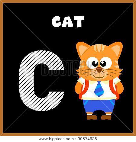The English alphabet letter C