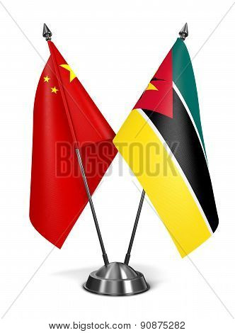 China and Mozambique - Miniature Flags.