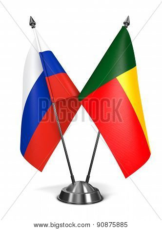 Russia and Benin - Miniature Flags.
