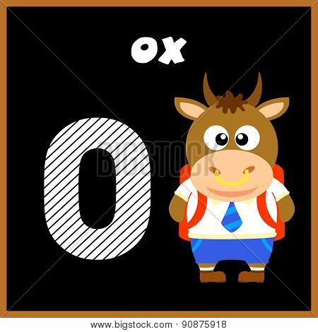 The English alphabet letter O