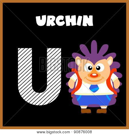 The English alphabet letter U