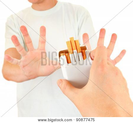 Person Refuse A Cigarettes