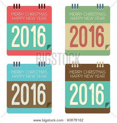 2016 New Year Calendar.