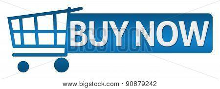 Buy Now Blue Shopping Cart Button