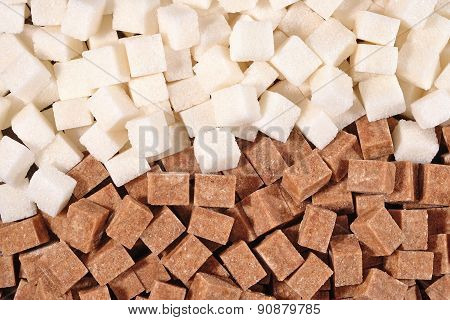 Brown And White Refined Sugar