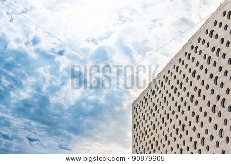 modern business building against blue sky