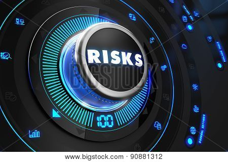 Risks Controller on Black Control Console.