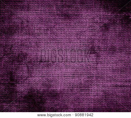Grunge background of byzantium burlap texture