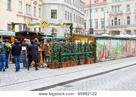 Entrance to the Traditional market in Vienna