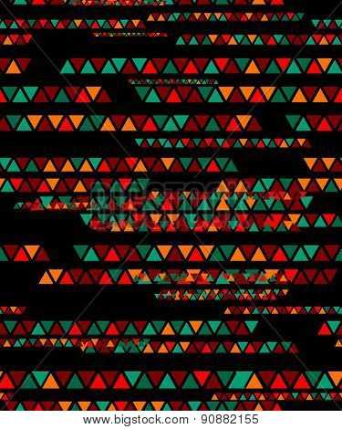 Abstract geometric triangle seamless pattern.