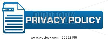 Privacy Policy File Icon Horizontal