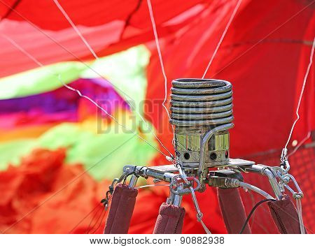 Stove To Heat The Air Inside The Balloon