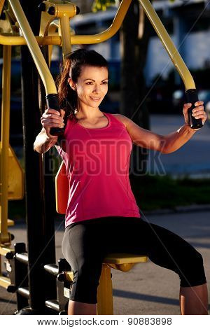 Fit woman exercising outdoor