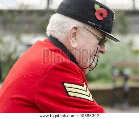 A Chelsea pensioner.