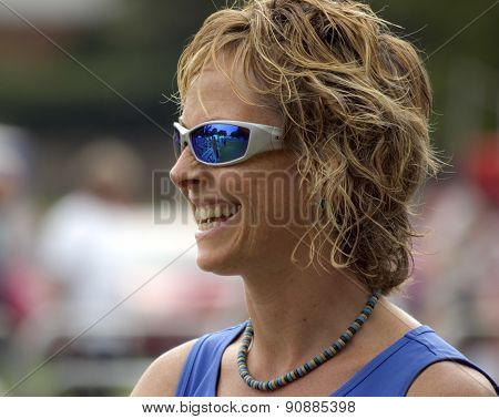 woman in sunglasses at Race-for-Life