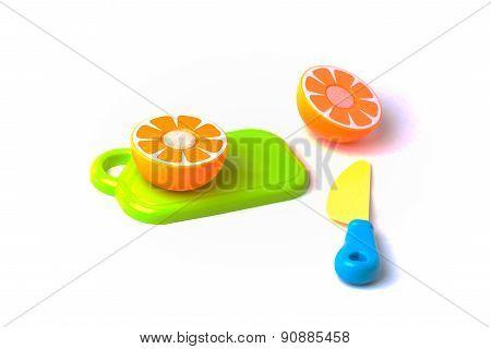Plastic Orange Cut In Half