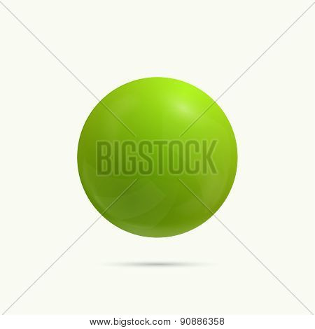 Colorful glossy spheres