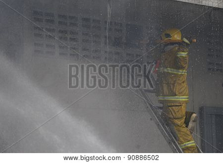 Chiang Mai, Thailand May 17: Fire In Warehouses - Catch Fire In Warehouses Of Sales Religious Suppli