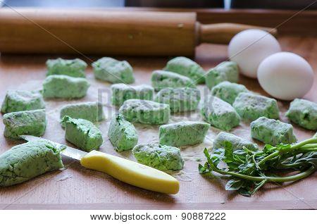 Basil gnocchi
