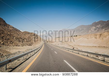 Karakorum Highway in Pakistan