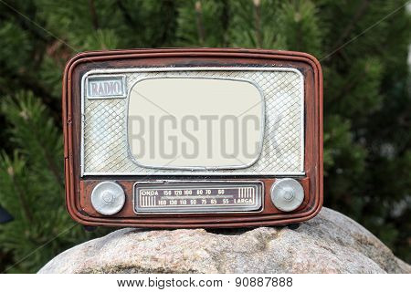 Frame For The Photo - Old Radio