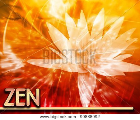 Abstract background digital collage concept illustration zen mediation