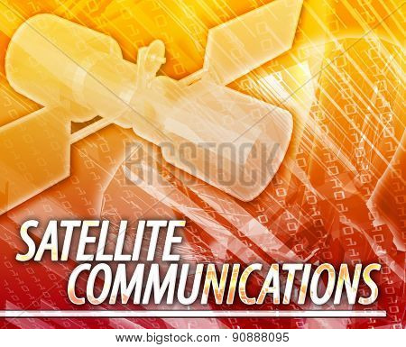 Abstract background digital collage concept illustration satellite communications
