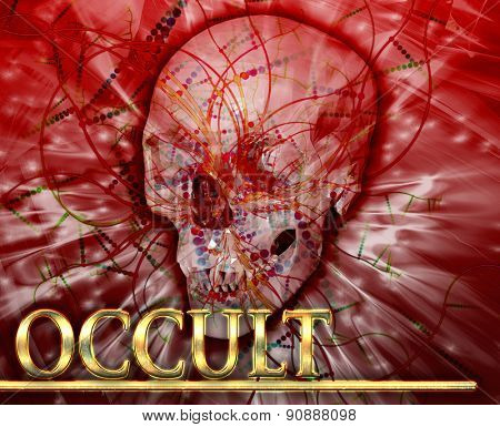 Abstract background digital collage concept illustration occult magic