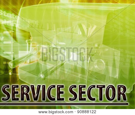 Abstract background digital collage concept illustration service sector