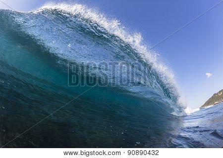 Wave Crashing Blue