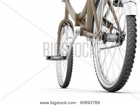 Bicycle Close Up On A White
