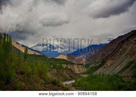 Idyllic of Mountain and Valley
