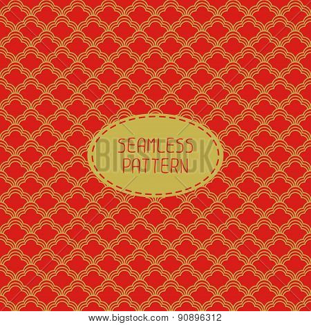 Geometric national chinese seamless pattern. Wrapping paper. Paper for scrapbook. Chinese new year 2