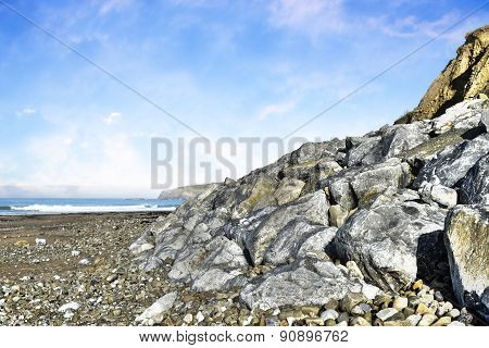 Beach And Boulders At Ballybunion