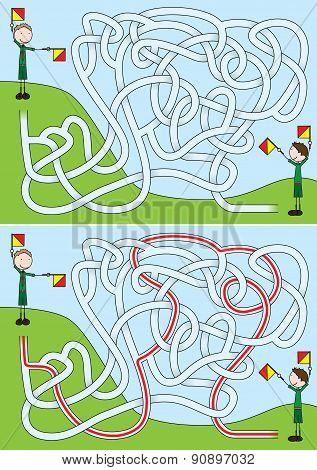 Boy Scouts Maze