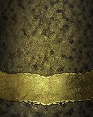 foto of nameplates  - Dark texture with gold scuffed with gold nameplate - JPG