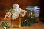 stock photo of prophylactic  - Syrup Made Of Pine  - JPG