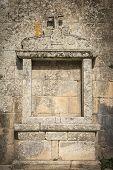 foto of altar  - outdoor medieval altar of the Christian church in Sortelha - JPG