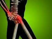 pic of joint inflammation  - Conceptual 3D human man anatomy or health design - JPG