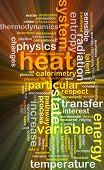 picture of kinetic  - Background concept wordcloud illustration of heat glowing light - JPG