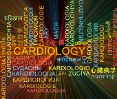 picture of cardiology  - Background concept wordcloud multilanguage international many language illustration of cardiology glowing light  - JPG