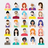 foto of avatar  - Big set of avatars profile pictures flat icons - JPG