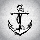 image of nautical equipment  - Anchor icon isolated nautical heavy iron symbol art - JPG