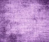 stock photo of ube  - Grunge background of bright ube burlap texture for design - JPG