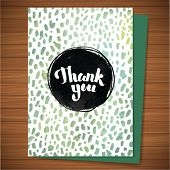 pic of thankful  - Calligraphy Thank you grunge flyer - JPG